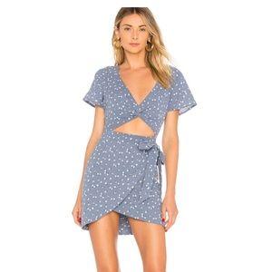 Majorelle faux wrap dress